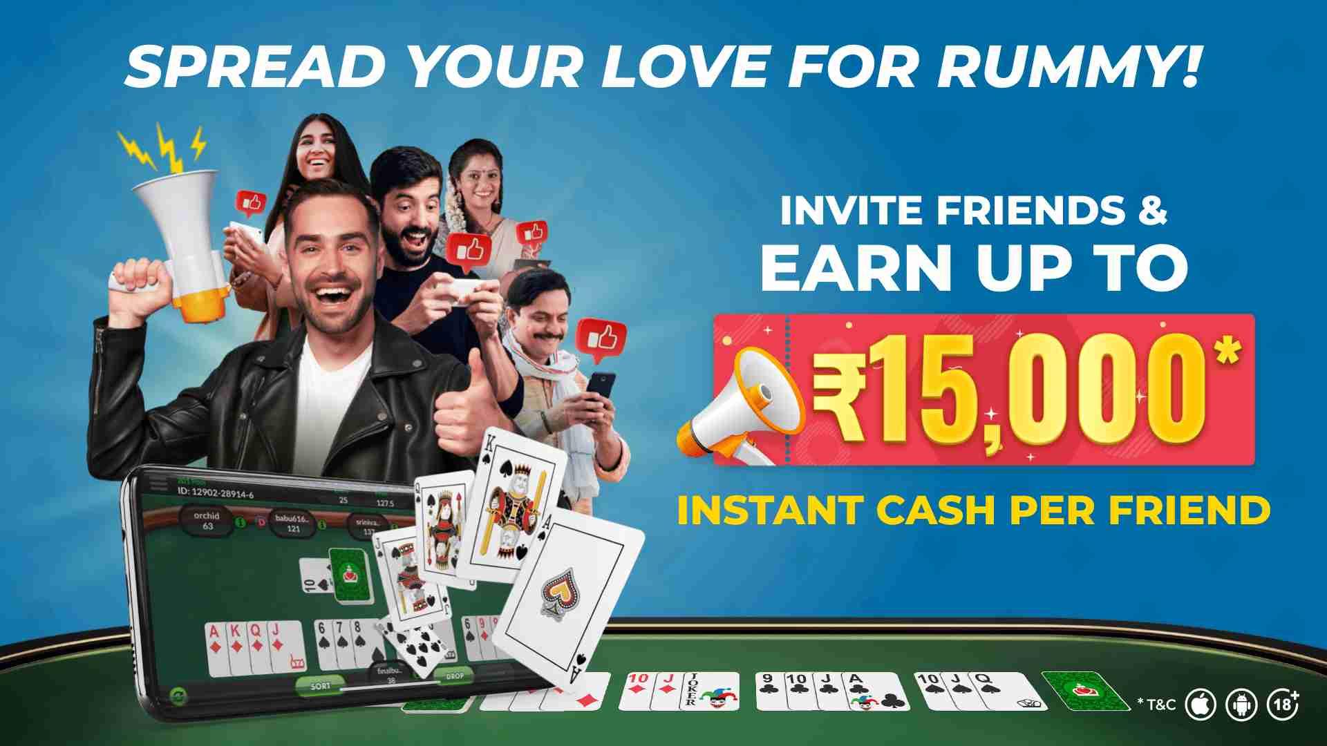 Refer a Friend Bonus at Classic Rummy