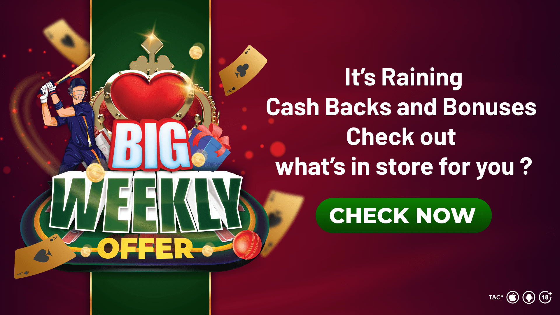 Big Weekly Offer at Classic Rummy